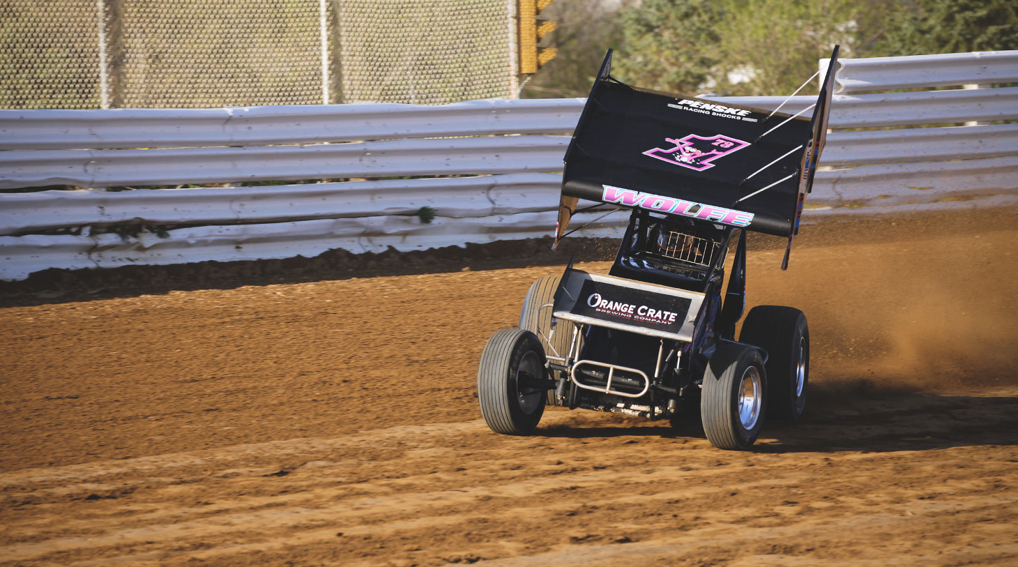 Lucas Wolfe captured his first World of Outlaws feature win at Bloomington Speedway in 2012