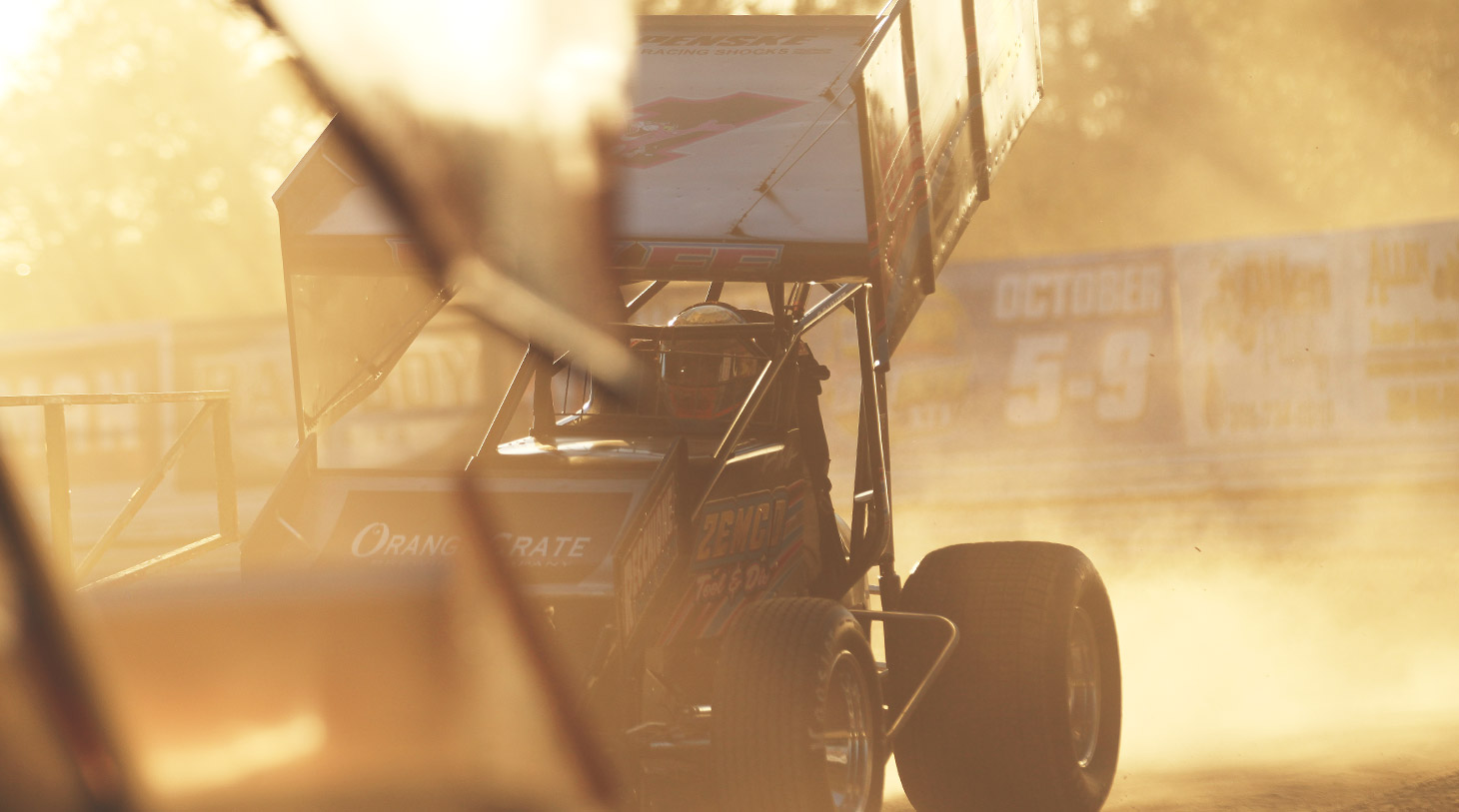 Lucas Wolfe puts heat in the motor at Volusia Speedway in Florida