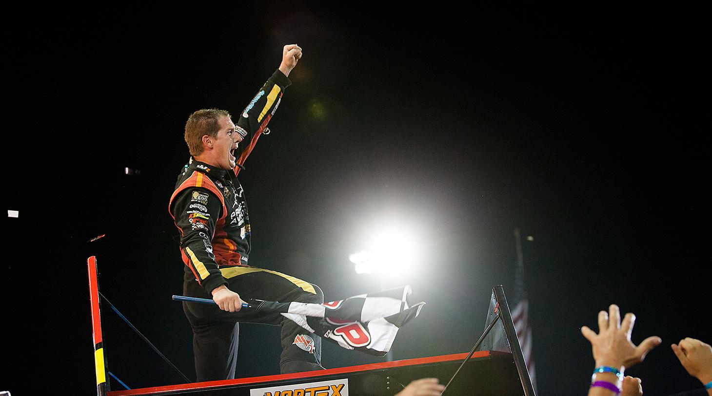 Jason Johnson on top of the Sprint Car world