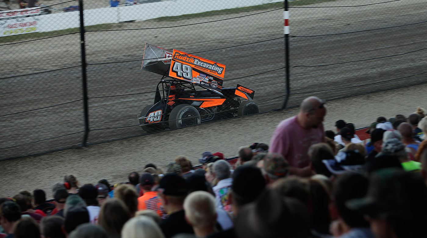 Tim Shaffer won the 50th Anniversary of The Knoxville Nationals